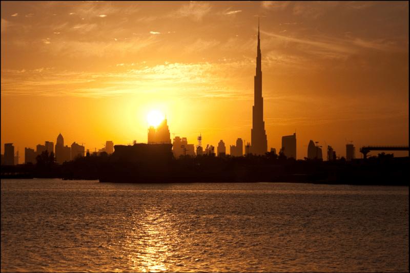 Dubai Sunset Burj Kalifa