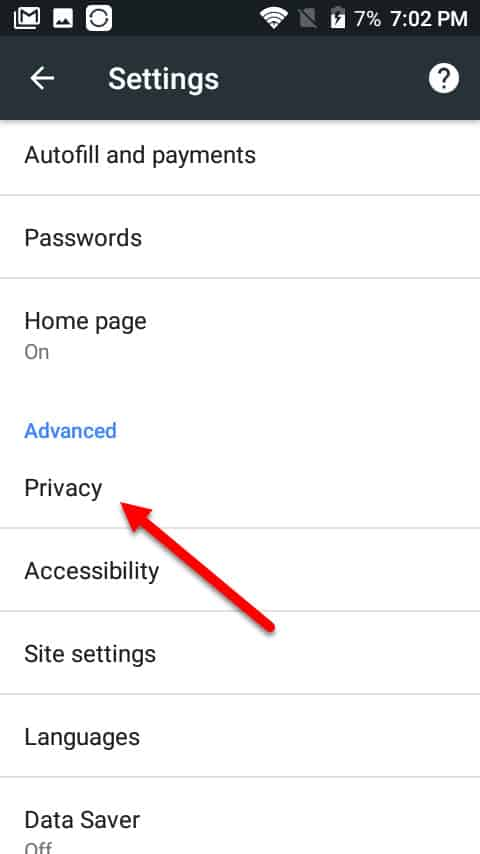 privacy android cookies