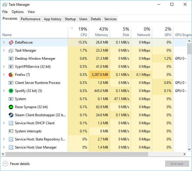 data rescue 5 performance