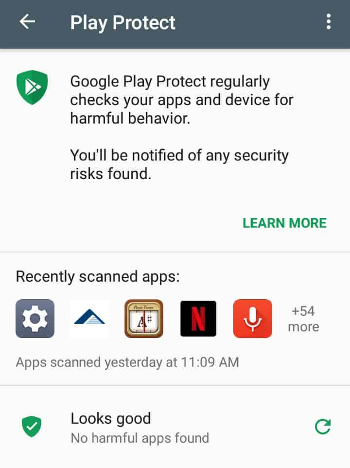 Google Play android antivirus