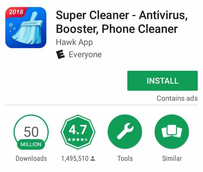 super cleaner android antivirus
