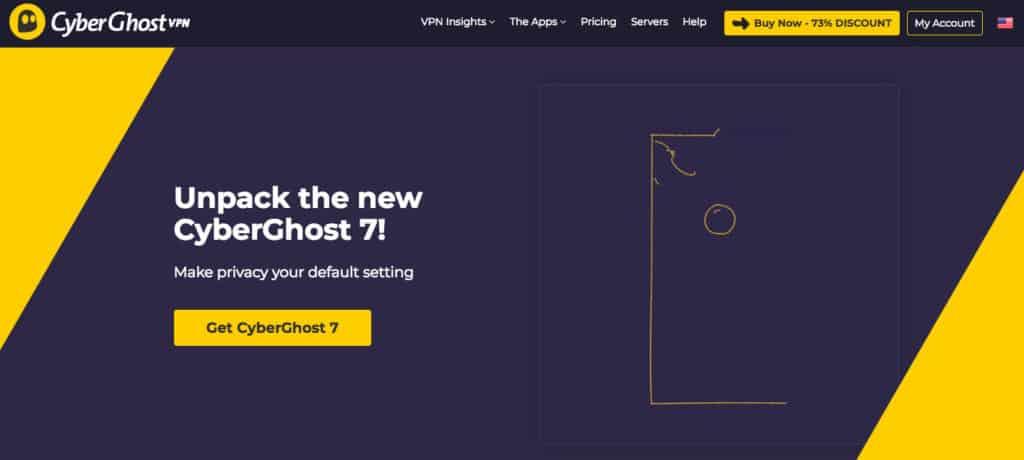 CyberGhost homepage screenshot