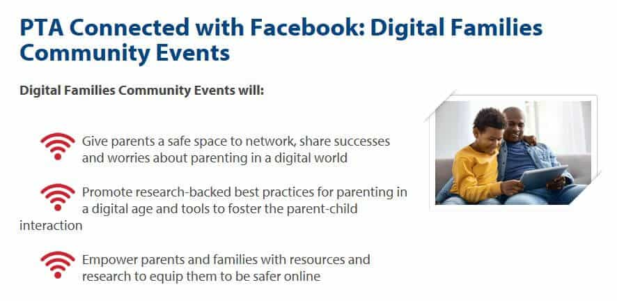 PTA Facebook bullying events.