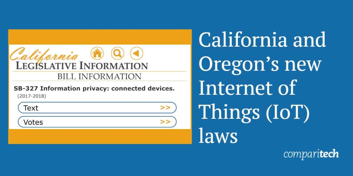 California and Oregon's new Internet of Things laws